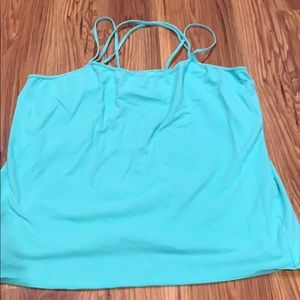 Mint Green with crisscross strap tank